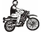 Transportation Motorbiker P A 1 Decal