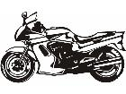Transportation Motorcycle P A 1 Decal