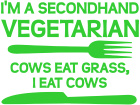 Vegetarian Cows Grass Decal