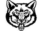 Wolf Fox Head M B 1 Decal