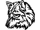 Wolf Head 1 Decal