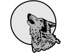 Wolf Howling Moon C L 1 Decal