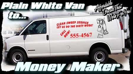 Advertising Decals Truck Van Semi Vinyl Lettering Promotional - Custom car decals businesswindow decals