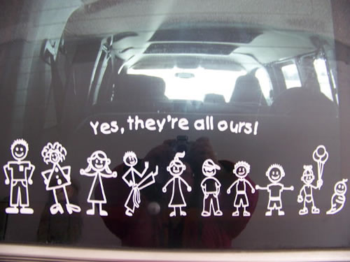 family window sticker or for bumper